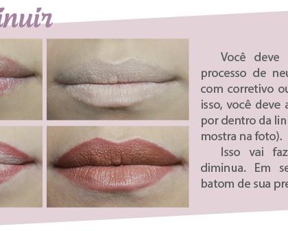 Você sabe como aumentar e diminuir seus lábios com Maquiagem?