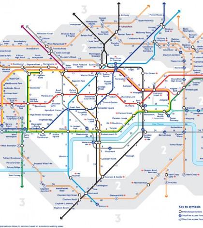 Novo Mapa do metrô de Londres