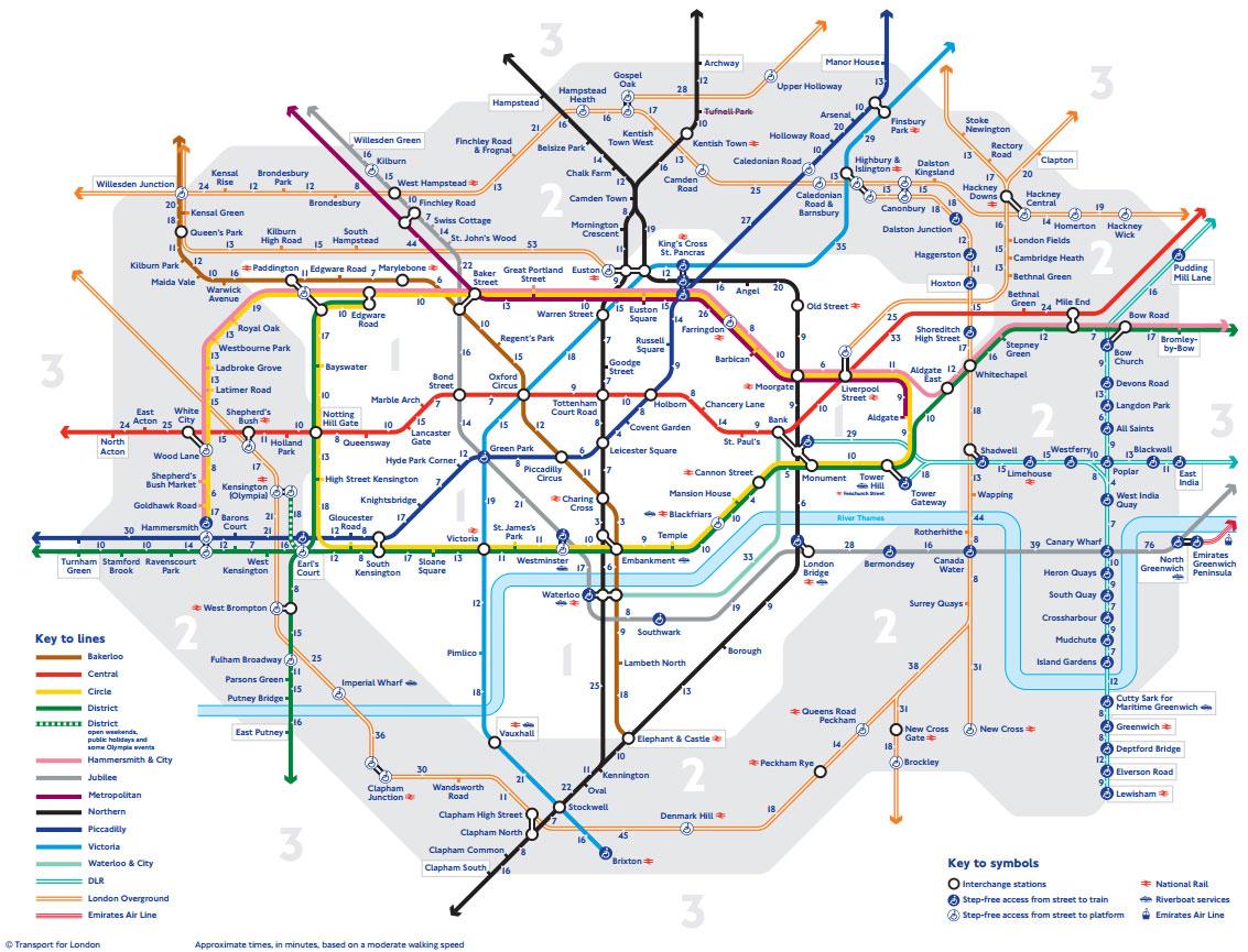 Estações De Metro Londres Mapa.Novo Mapa Do Metro De Londres Revista Brasil Na Mao O