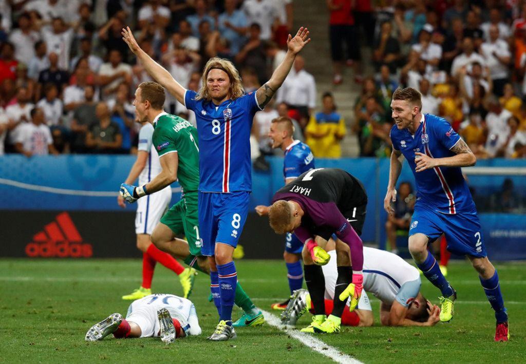 Inglaterra cai depois de perder para Islandia na Euro