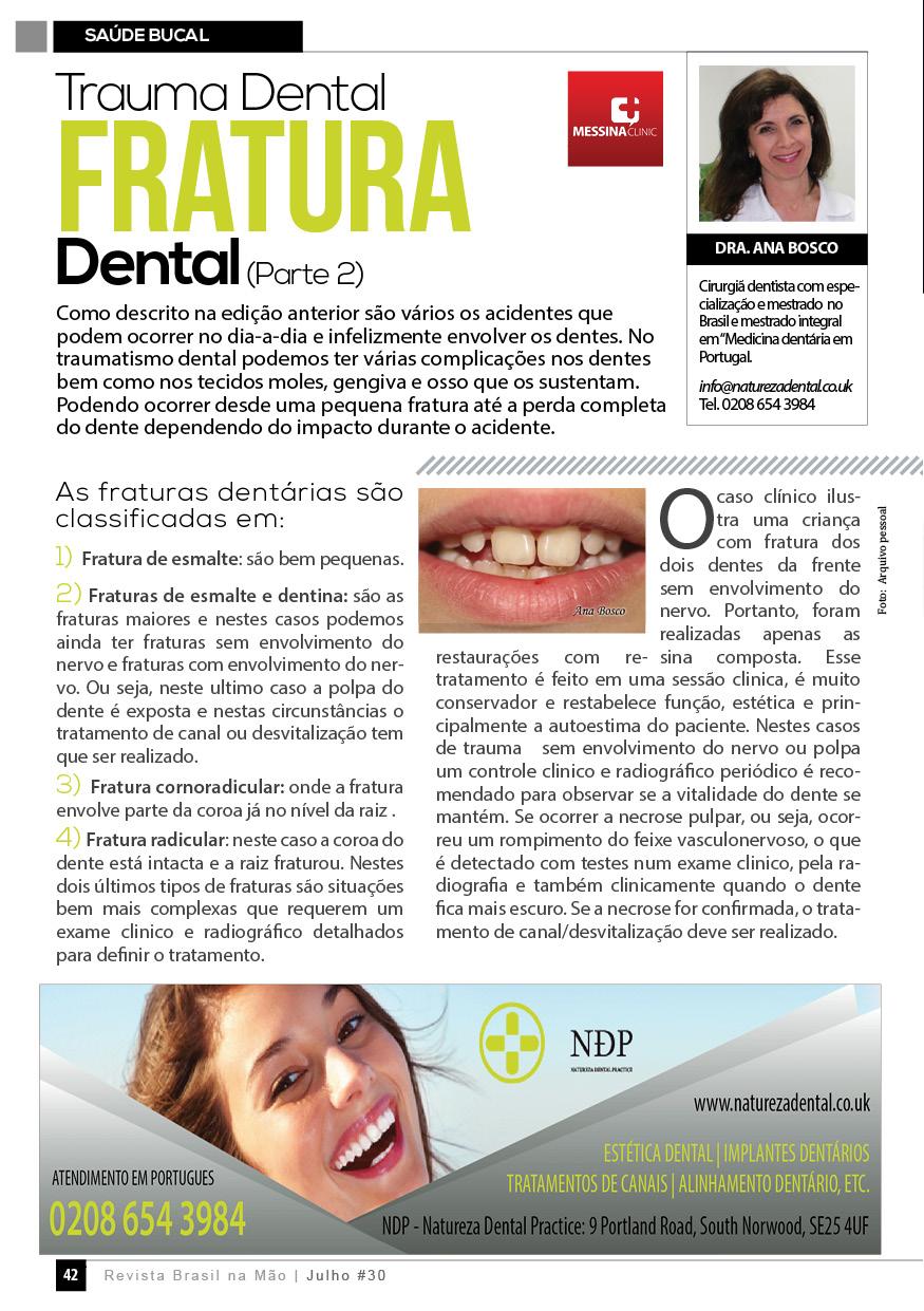 Trauma Dental Fratura Dental (Parte 2)