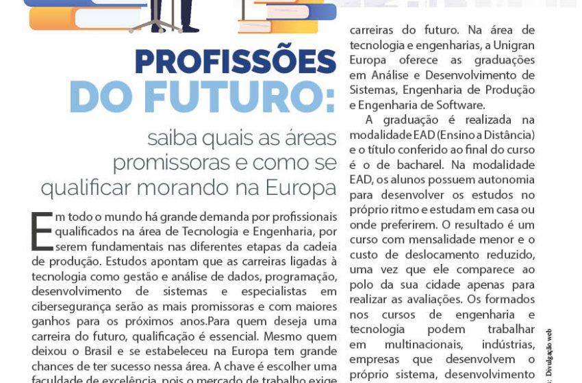Profissões do futuro: saiba quais as áreas promissoras e como se qualificar morando na europa