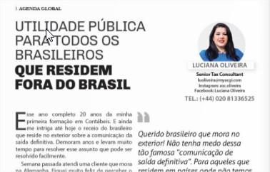 Utilidade pública para todos os brasileiros que residem fora do Brasil