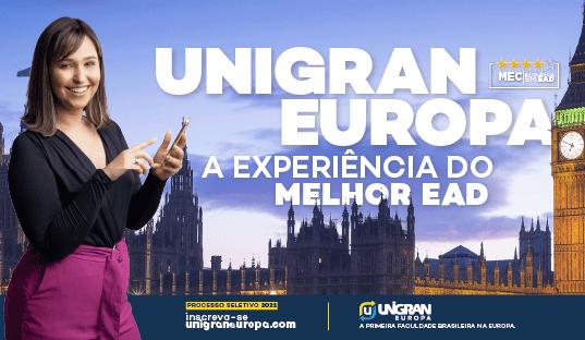 Viva a experiência do melhor EAD com a Unigran, Europa Processo seletivo 2021 já está aberto e a avaliação é online