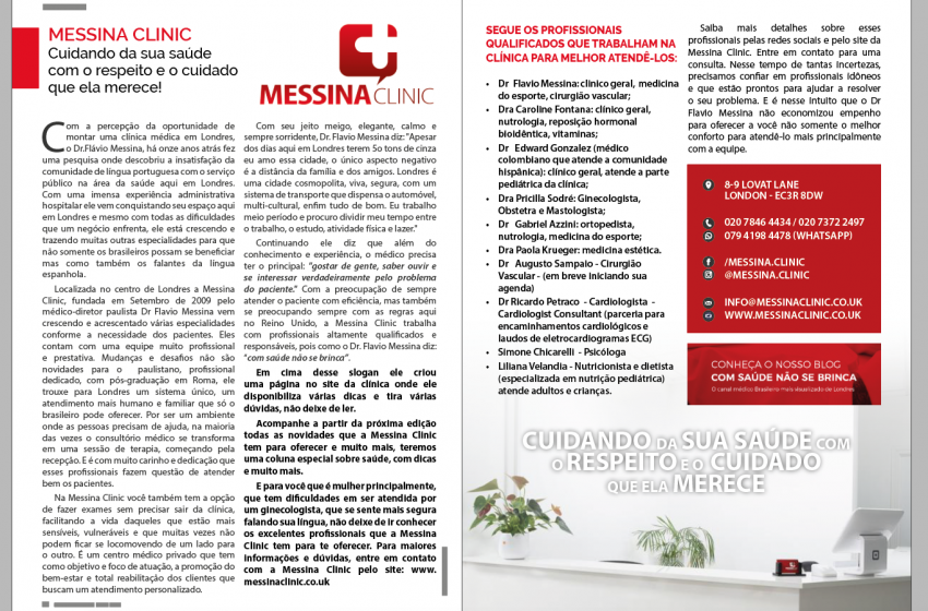 Entrevista da Capa Messina Clinic